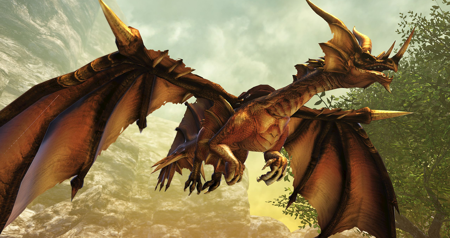 Savage Hunt - This Fabled Ancient dragon just likes to fly around - just look how happy he is!