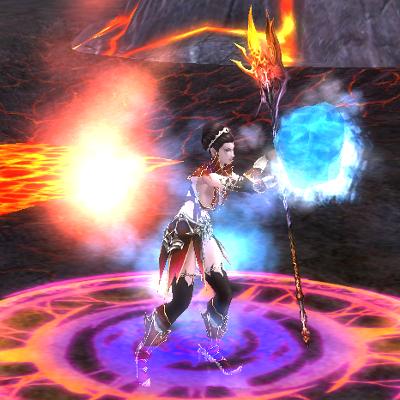 Zauberin Skill: Flammenkreis
