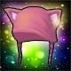 Pinke Kätzchen Haube (Permanent)