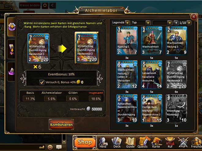 Kings & Legends Screenshot Alchemielabor