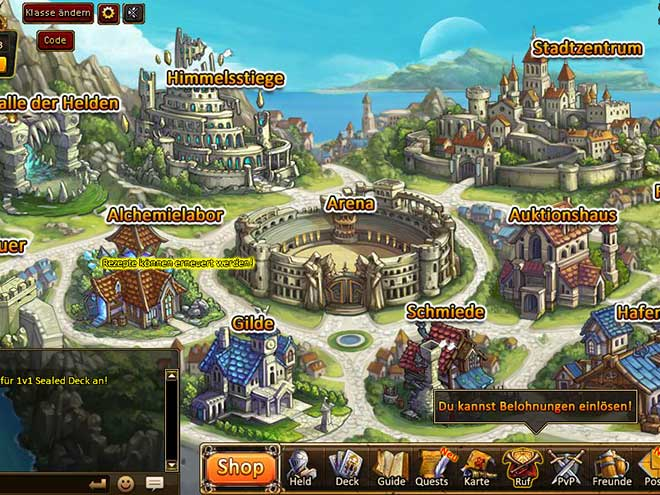 Kings & Legends Screenshot Stadtzentrum