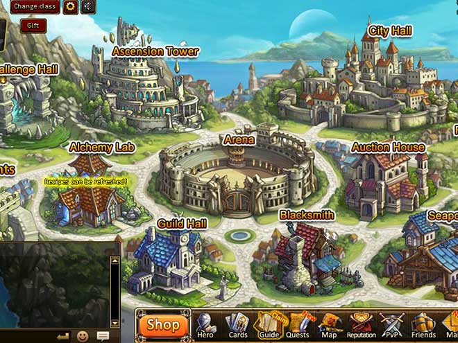 Kings & Legends screenshot town center