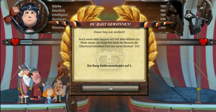 Wickie Online - Duell Sieg