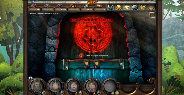 Wickie Online - Dungeon Eingang