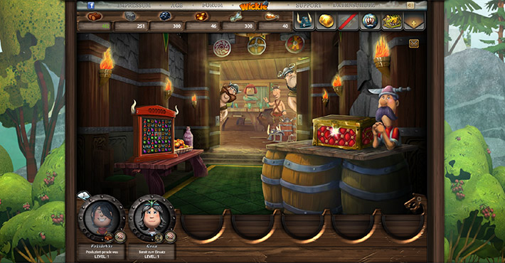 Wickie Online Screenshot